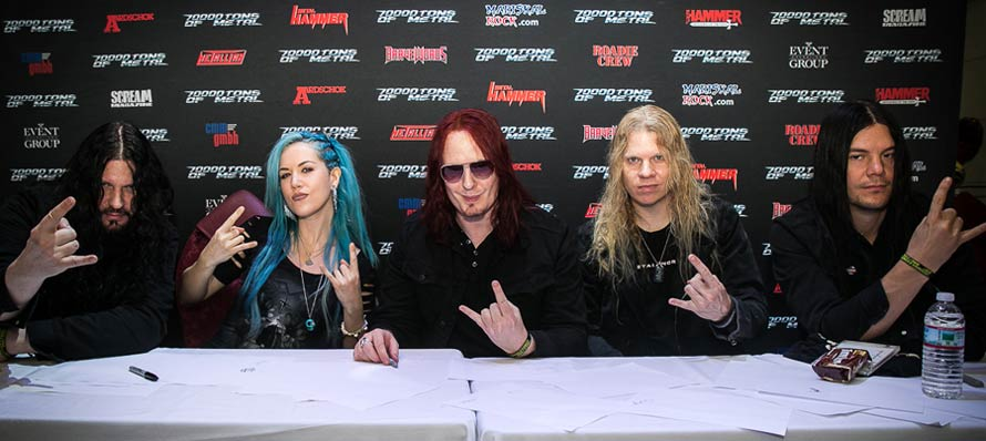 Arch Enemy - Meet and Greet on board 70000TONS OF METAL™ 2015