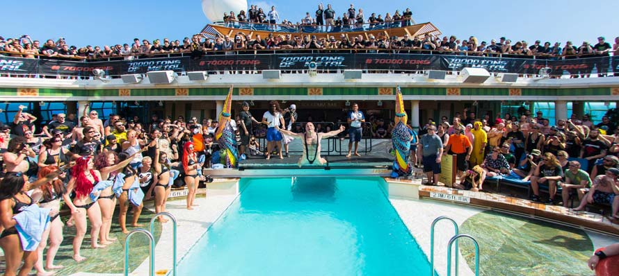 Belly Flop Contest on board 70000TONS™ OF METAL 2015