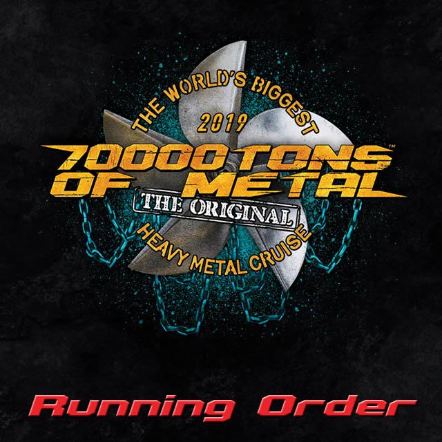 Running order Post