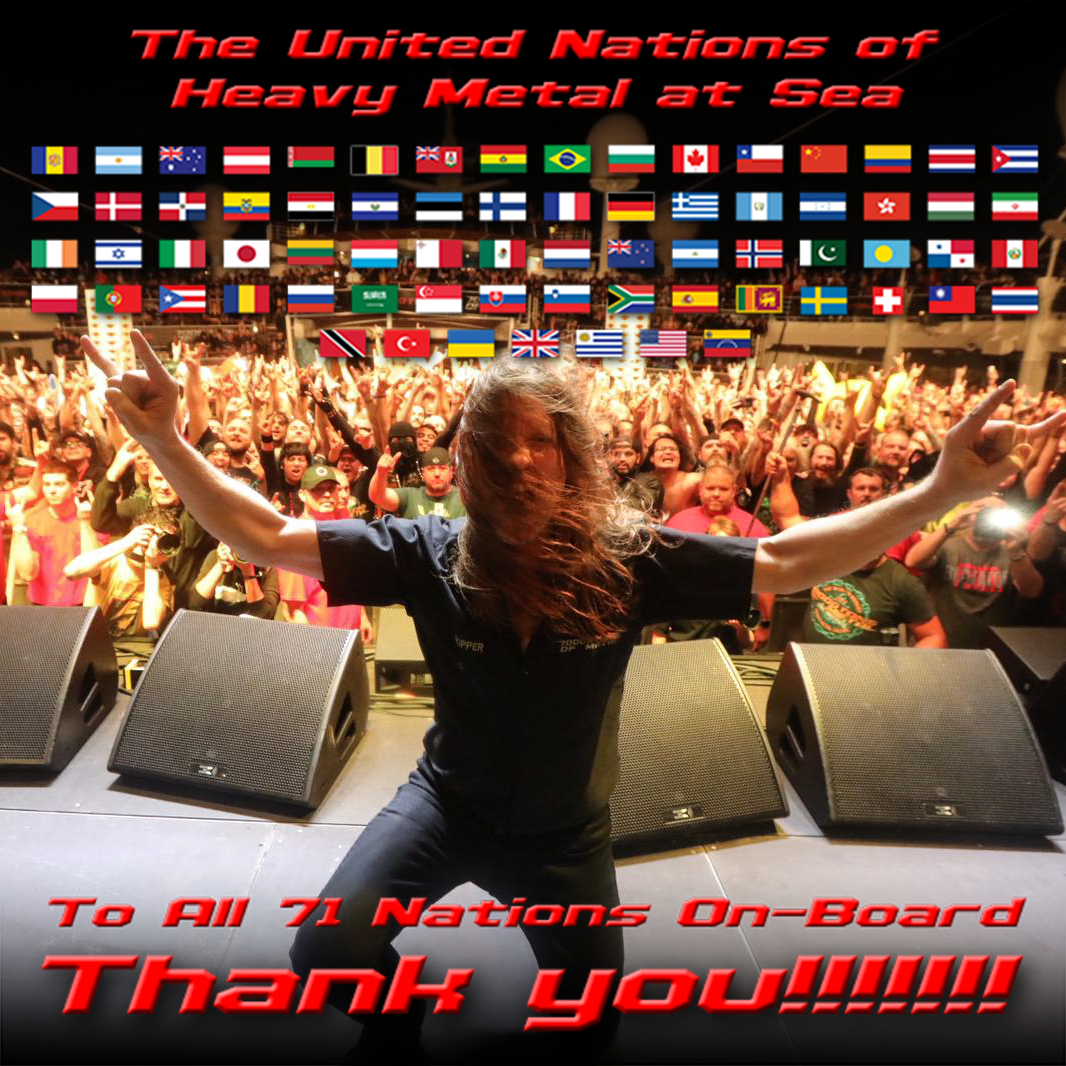 Thank You To All Survivors From 71 Nations 70000tons Of Metal The World S Biggest Heavy Metal Cruise