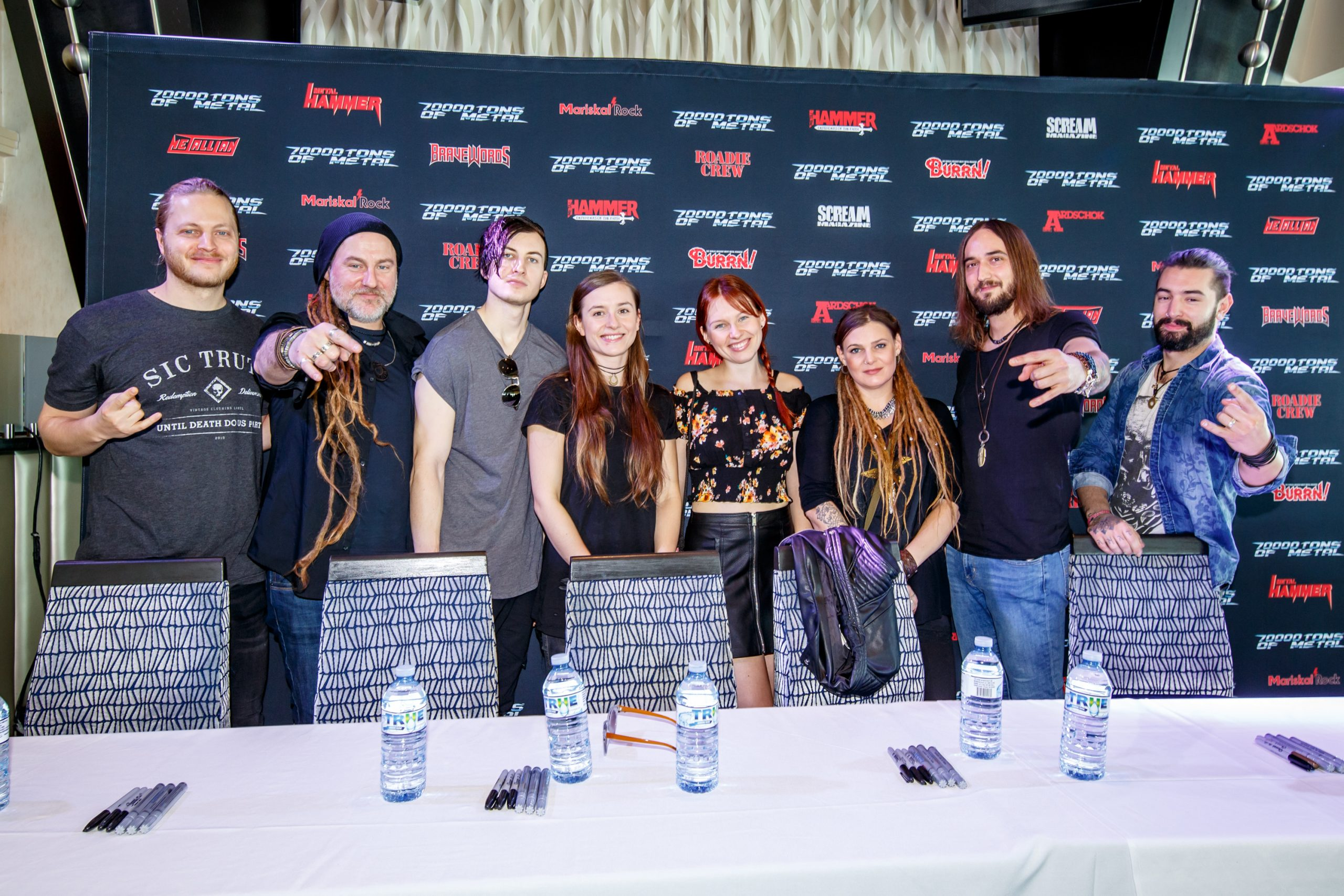 Eluveitie - Meet and Greet on board 70000TONS OF METAL™ 2019